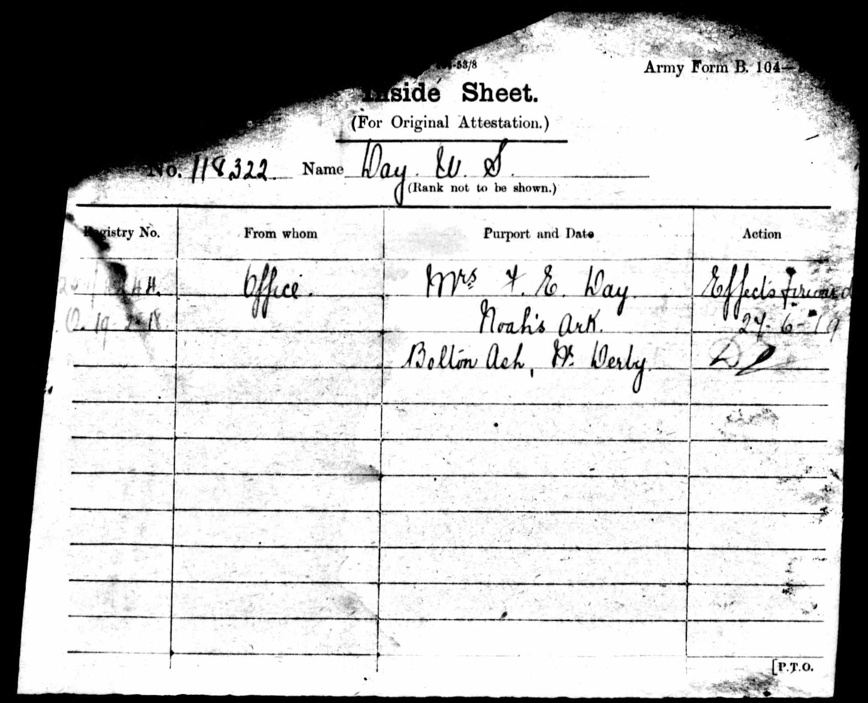 1916-1917 - Day, Walter Sidney - Service Record - MIUK1914H_132377-00478