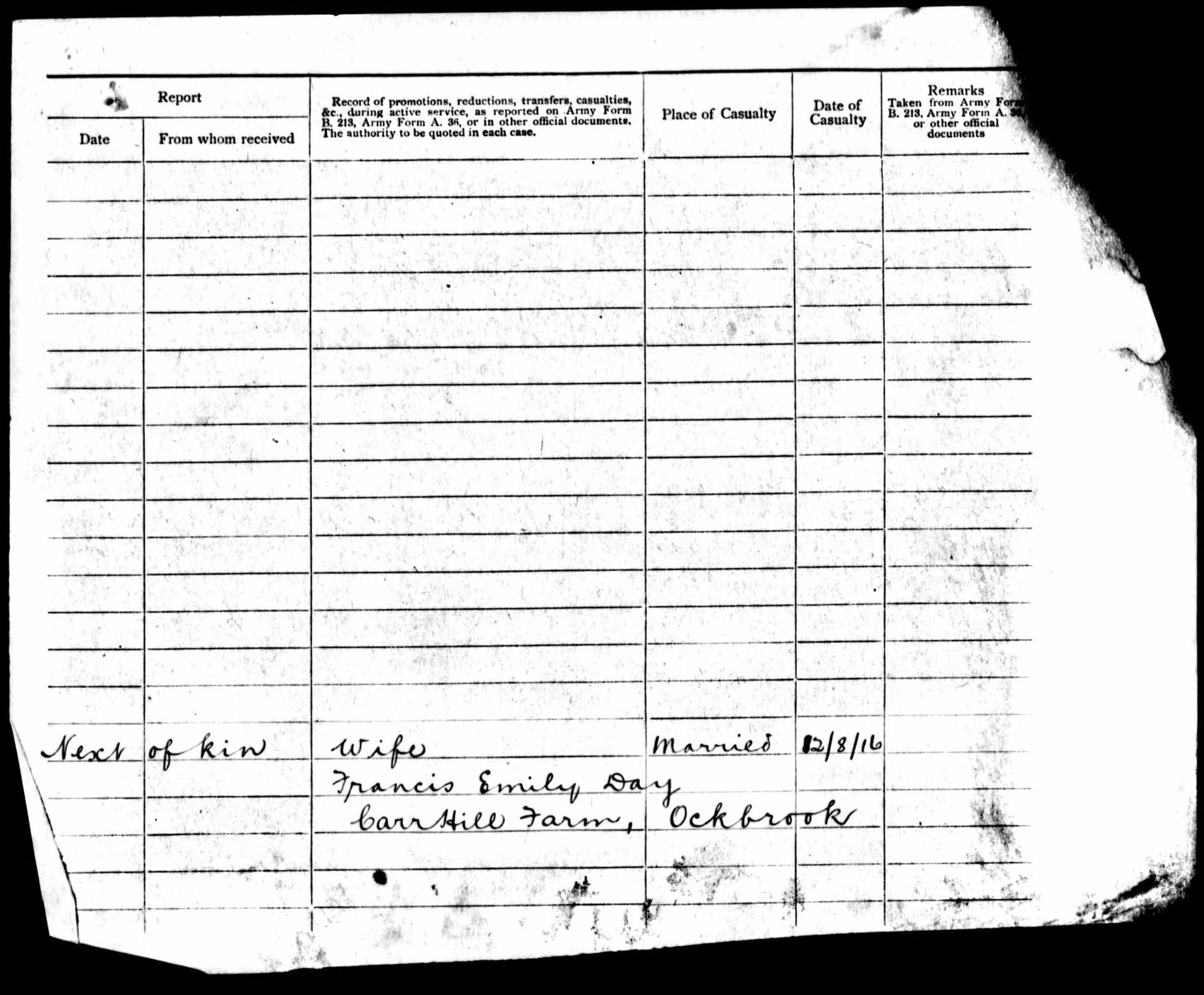 1916-1917 - Day, Walter Sidney - Service Record - MIUK1914H_132377-00483