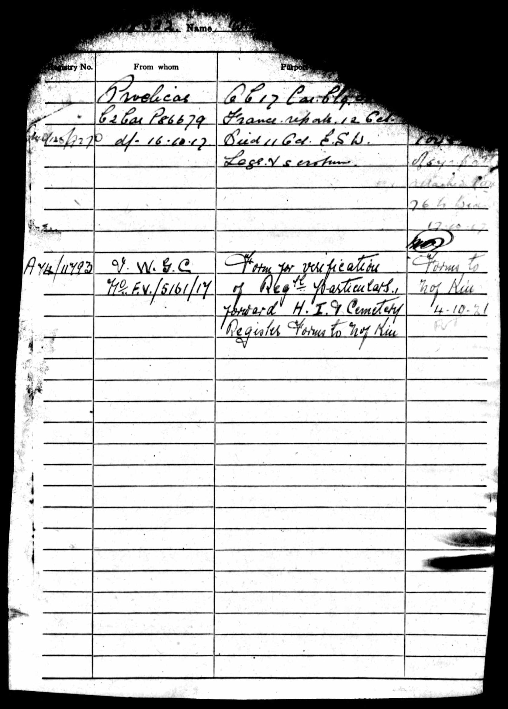1916-1917 - Day, Walter Sidney - Service Record - MIUK1914H_132377-00487