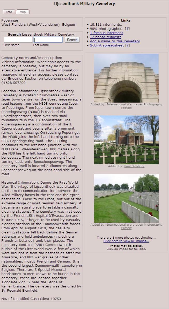 1917 - Find A Grave  Lijssenthoek Military Cemetery