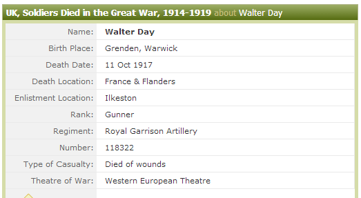 2014 - Day WS - UK, Soldiers Died in the Great War, 1914-1919 - Ancestry.co.uk (9)