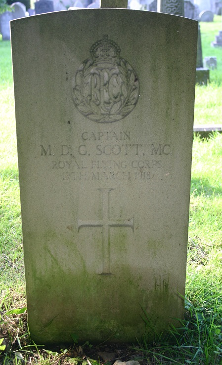 Grave of Maurice Douglas Guest Scott, All Saints Churchyard, Ockbrook