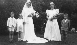 The Wedding of John Burge's cousin, Marjorie Dyche.