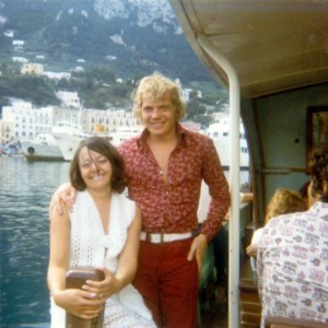 Chrissie and Martin on their honeymoon