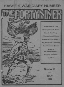 "Front Page of The FortyNiner"" July 1935."
