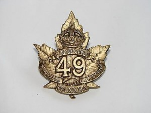 49th Battalion Cap Badge