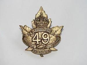 49th Battalion Cap Badge