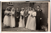 June and  Fred's wedding