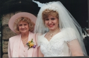 June with daughter, bride, Nicola Perry