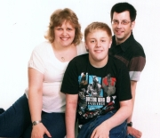 Nicola (daughter), Ian (son-in-law) and Josh (grandson)