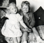 Janet and Jeff as babies.