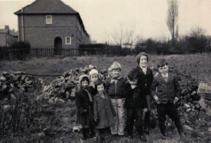 1962/3 - Playing  on land at the bottom of Kimberley Road.